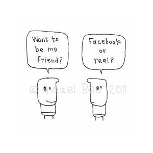 Facebook Or Real? Greeting Card