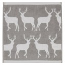 Kissing Stags Face Towel